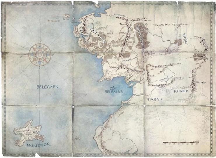 Mapa - O Senhor dos Anéis