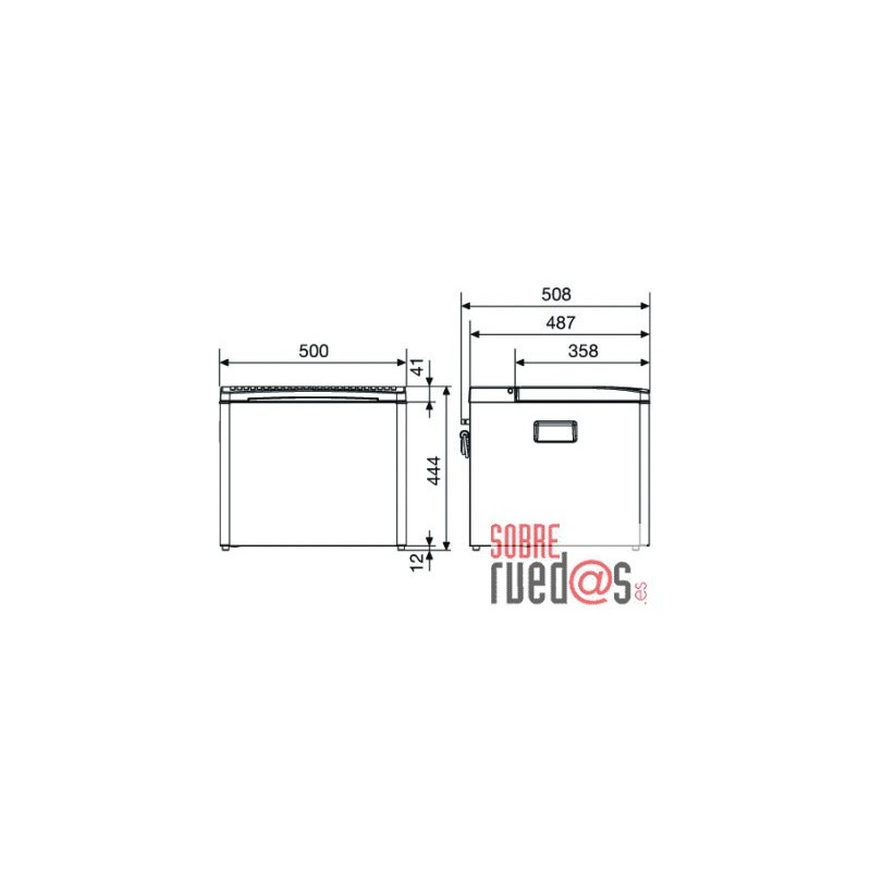 Nevera Dometic Combicool RC2200 EGP Aluminio (Gas, 12v. y