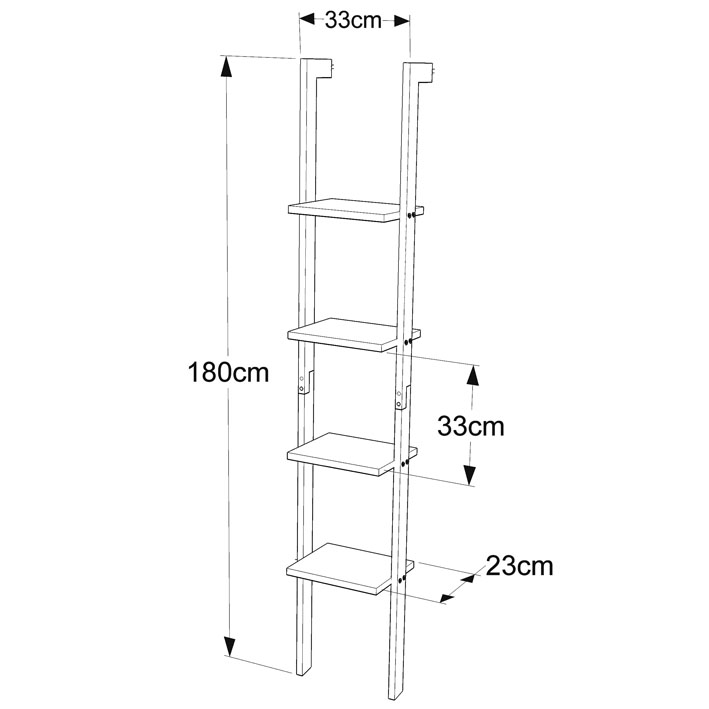 SoBuy® 4 Tiers Wood Standing Ladder Shelf, Bookcase