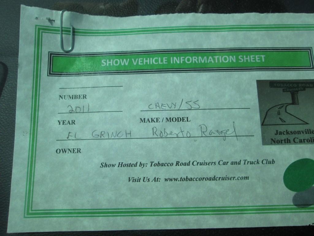 Info Sheet 2011 Green Chevy Camaro SS