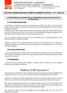 Bulletin d'Information Avocats CGT N°3