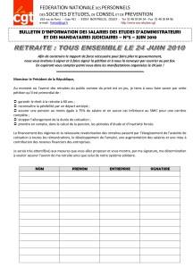 Bulletin d'Information AJMJ CGT N°5
