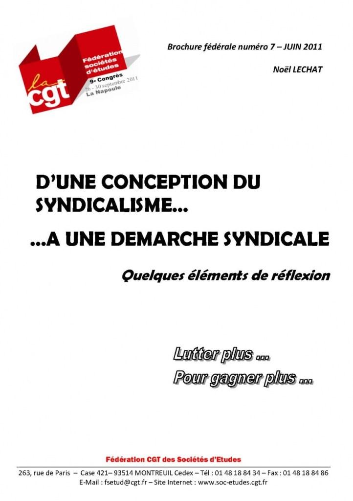 Brochure Fédérale n°7 – D'une conception du syndicalisme…