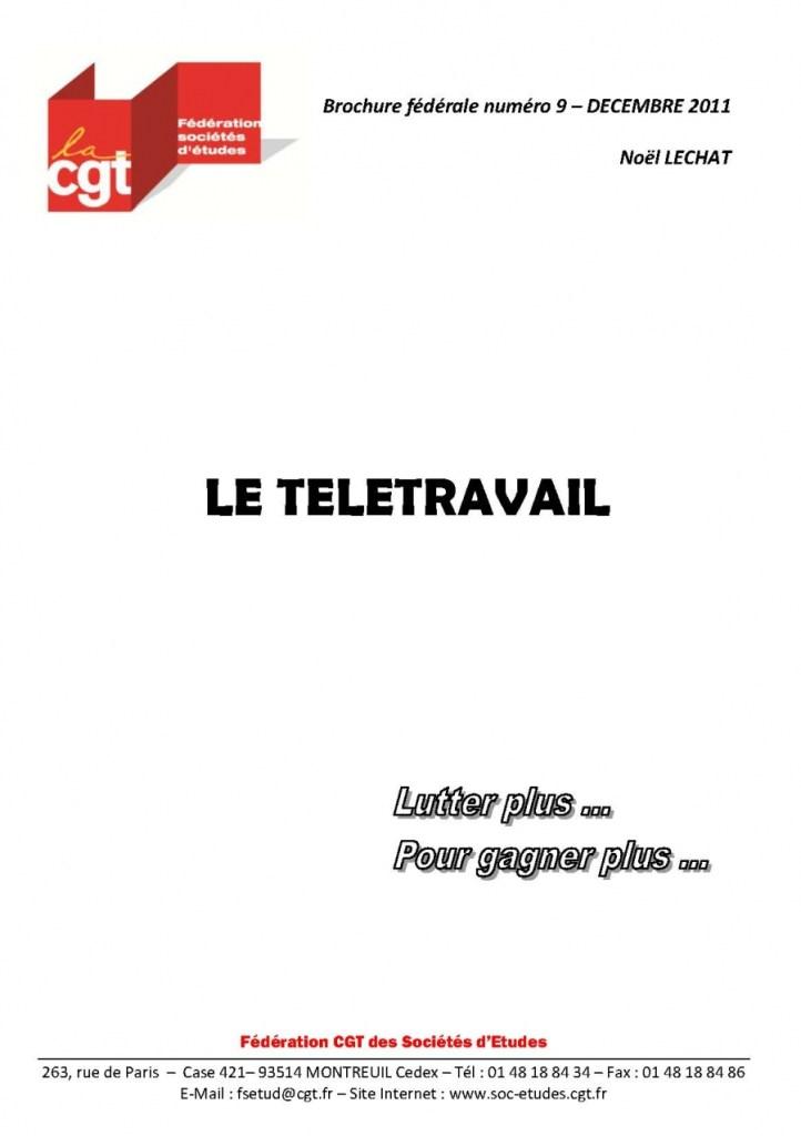 Brochure Fédérale n°9 – Le télétravail