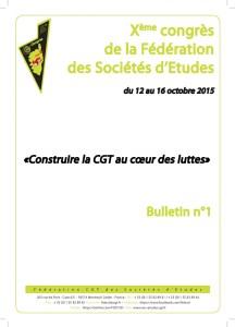 10e Congrès : Bulletin n°1
