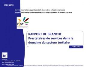 Rapport de branche prestataires Février 2015