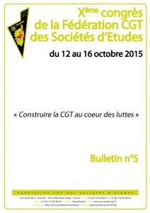 10e Congrès : Bulletin n°5