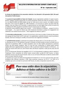 Bulletin d'information CGT Experts Comptables N°38