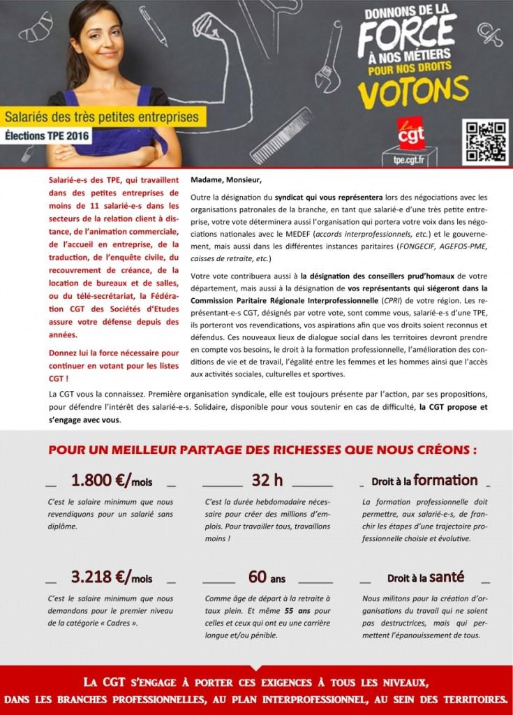 Elections TPE 2016 : Prestataires de Services