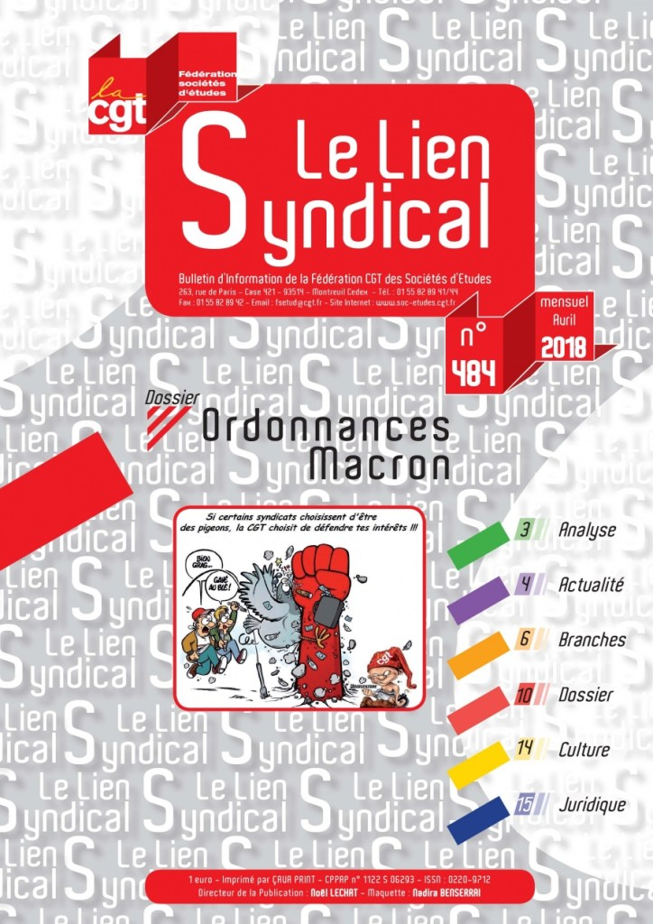 Le lien syndical n°484 – Avril 2018