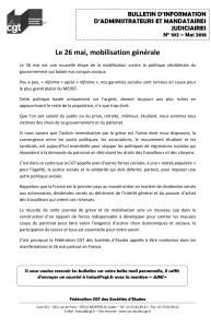 Bulletin d'information CGT Administrateurs Mandataires Judiciaires n°102