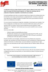 Bulletin d'information CGT Experts Comptables N°96