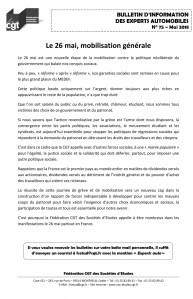 Bulletin d'information CGT n° 75 Experts autos