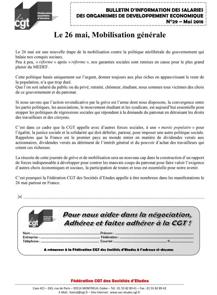 Bulletin d'information CGT Organismes de développement économique N°29