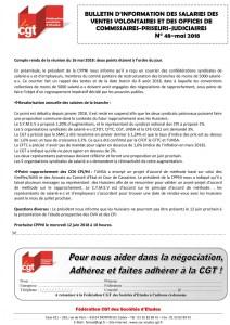 Bulletin d'information des salariés des commissaires-priseurs n°48