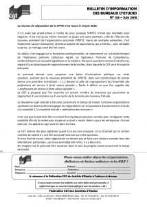 Bulletin d'information des bureaux d'études n°133