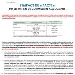 L'impact du « PACTE » sur les métiers du commissaire aux comptes