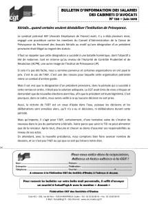 Bulletin d'information des salariés des cabinets d'avocat n°120