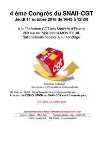 4ème Congrès du SNAII-CGT : Inscrivez-vous !