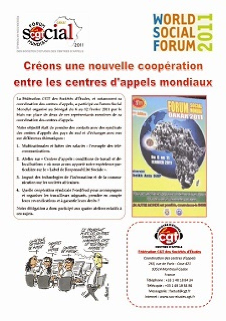 FSM 2011 : Créons une nouvelle coopération entre les centres d'appels mondiaux