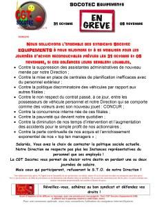 SOCOTEC Equipements : En grève du 31 octobre au 5 novembre