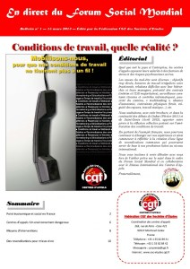 En direct du FSM n°1 : Conditions de travail, quelle réalité ?