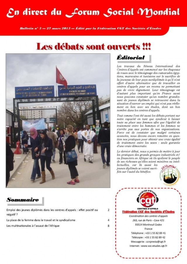 En direct du FSM n°3 : Les débats sont ouverts !!!