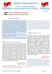 POLYMONT IT SERVICES : Bulletin d'information n°09