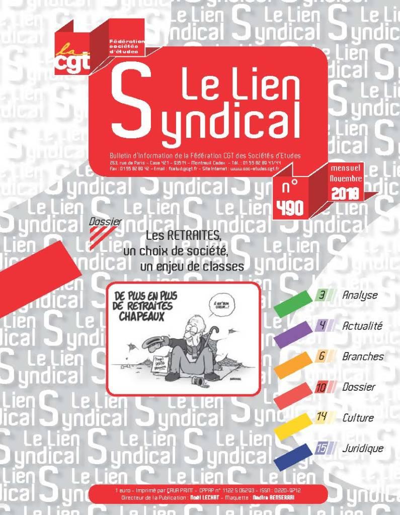 Le lien syndical n°490 – Novembre 2018