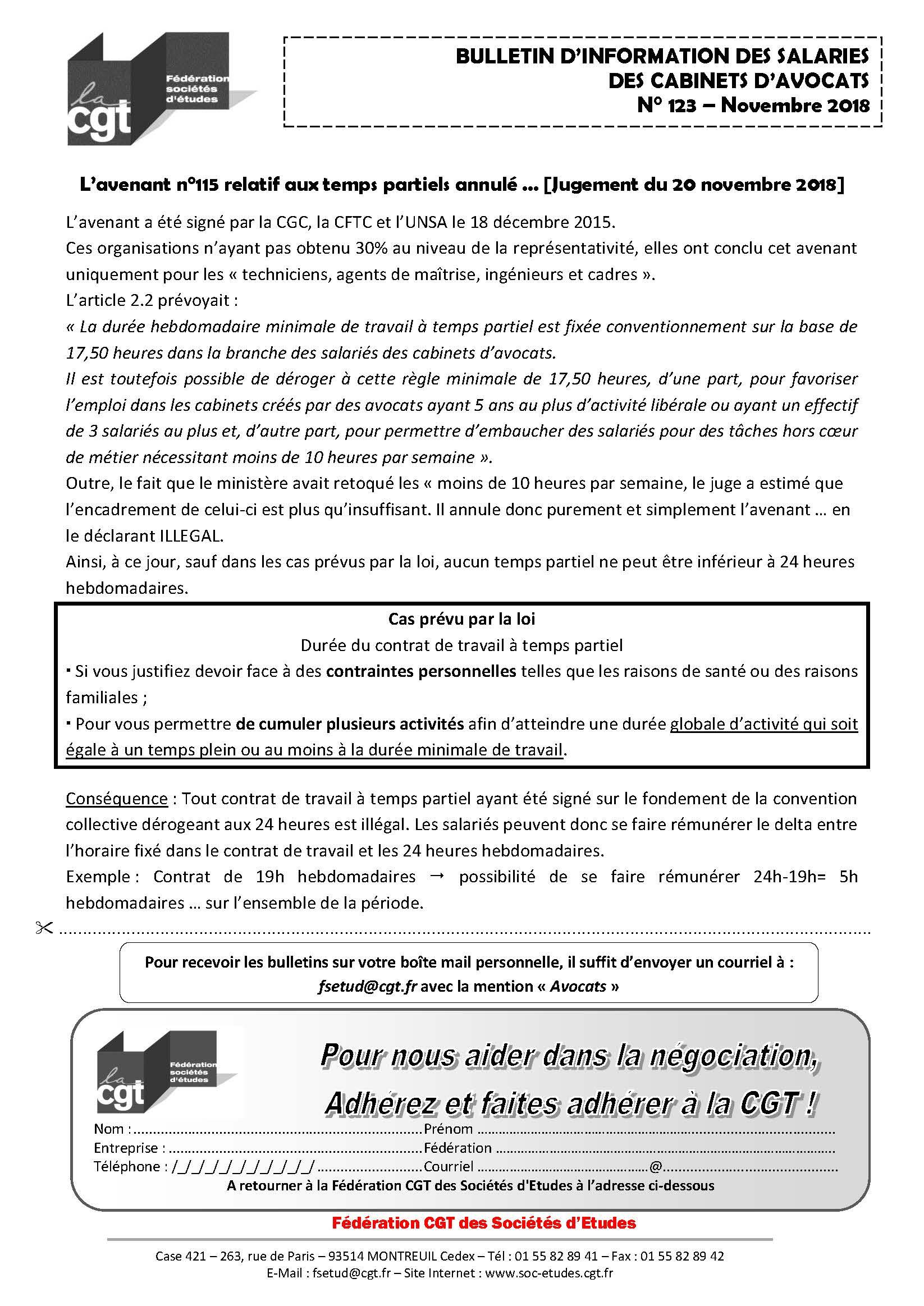Bulletin D Information Des Salaries Des Cabinets D Avocat N 123
