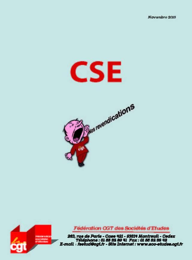 CSE : Nos revendications