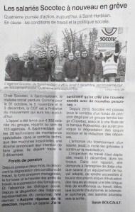 """Grève à SOCOTEC équipements Saint Herblain – article dans """"Ouest France"""""""