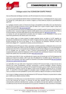 Dialogue social chez ECONOCOM-OSIATIS FRANCE