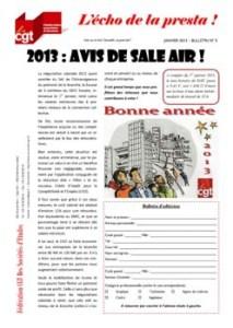 L'écho de la presta n°5 : 2013 : Avis de Sale air !