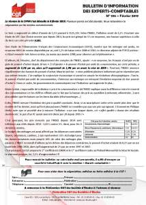 Bulletin d'information CGT Experts Comptables N°106