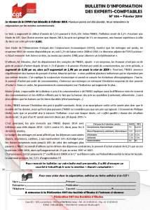 Bulletin d'information CGT Experts Comptables N°106