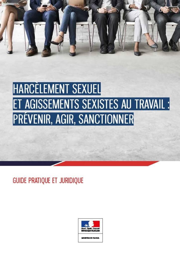 Harcèlement sexuel et agissements sexistes au travail : Prévenir, agir, sanctionner