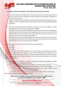 Bulletin d'information CGT Administrateurs Mandataires Judiciaires n°108