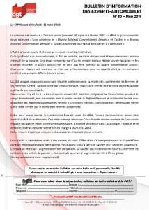 Bulletin d'information CGT n° 80 Experts autos