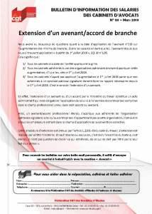 Bulletin d'information des salariés des cabinets d'avocat n°131
