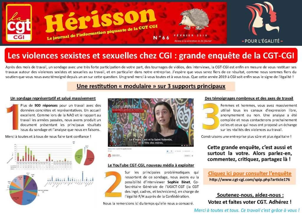 CGI : Hérisson n°66 – Février 2019