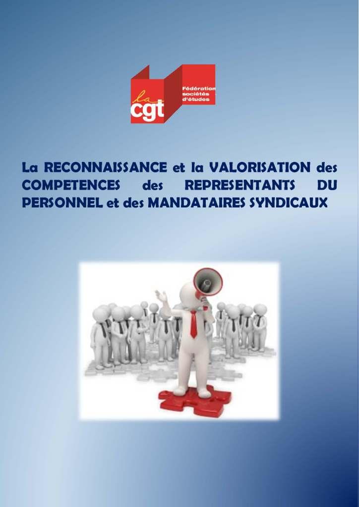 La reconnaissance et la valorisation des compétences des représentants du personnel et des mandataires syndicaux