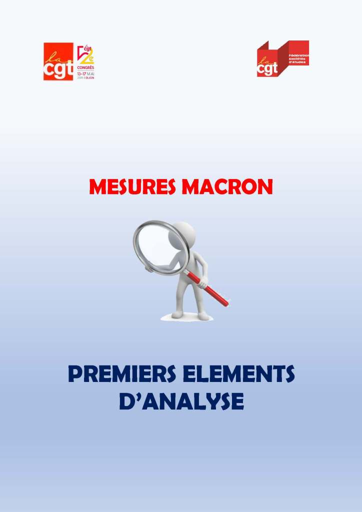 Mesures Macron : Premiers éléments d'analyse