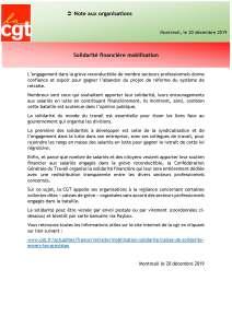 Solidarité financière mobilisation