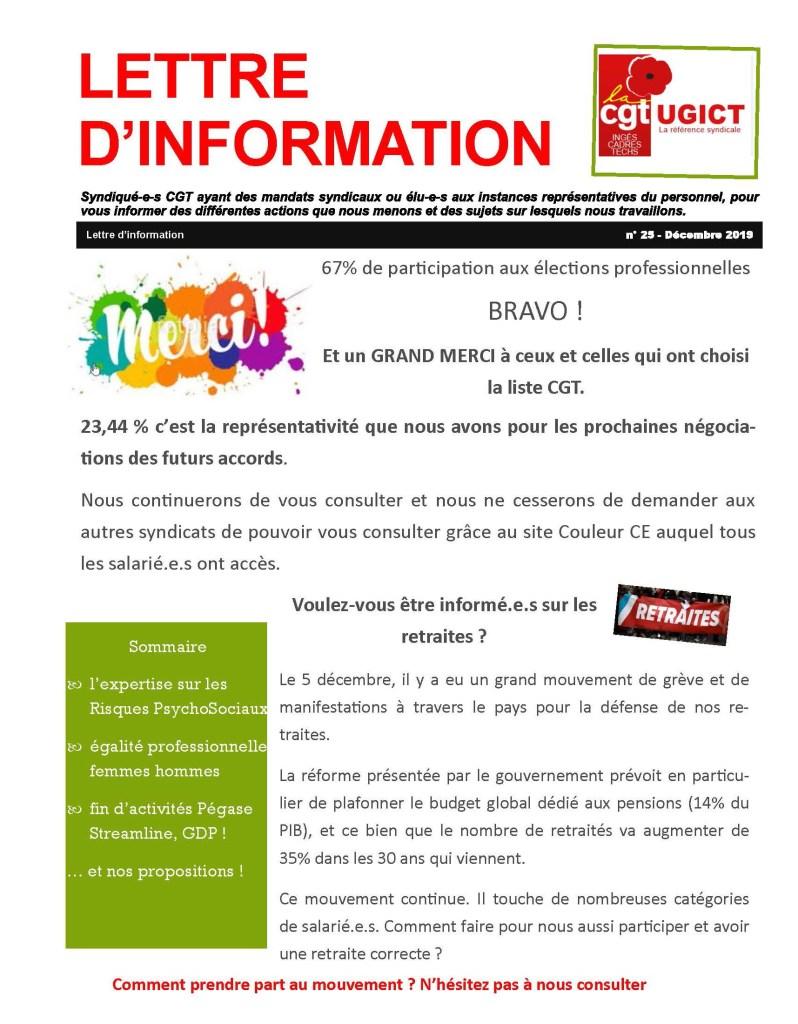 ADP-GSI : Lettre d'information n°25 – Décembre 2019