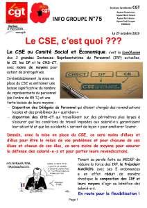APAVE : Info groupe n°75