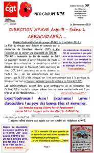 APAVE : Info groupe n°76