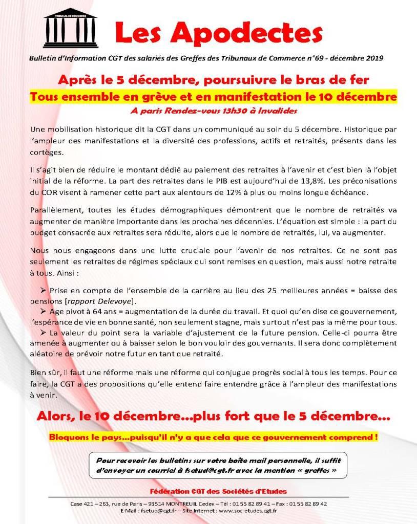 Les Apodectes n°69