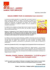 Salariés SAMSIC FLEX, la mobilisation vous concerne !