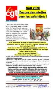 SODEXO : NAO 2020 Encore des miettes pour les salarié(e)s !